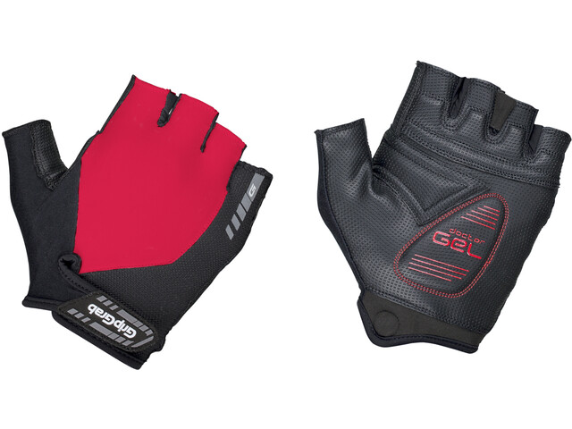 GripGrab ProGel Short Cycling Gloves Red